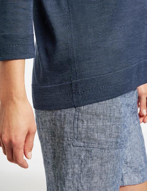 3/4 Arm Pullover mit U-Bootausschnitt