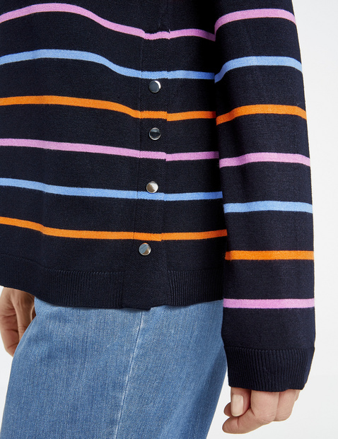 Jumper with a multi-coloured pattern