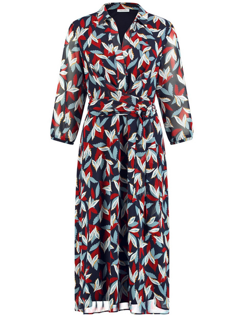 Wrap dress with an all-over pattern