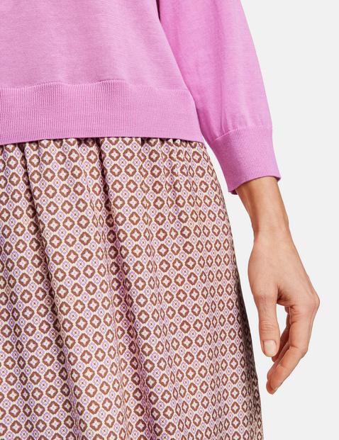Kleid mit gestricktem Oberteil