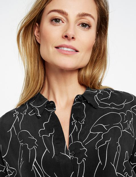 Hemdblusenkleid mit Art-Print