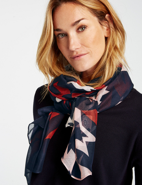 Scarf with an abstract pattern