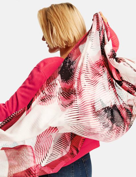 Sjaal met rozenmotief