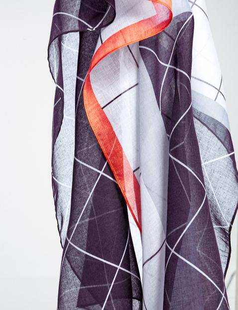 Schal mit grafischem Muster