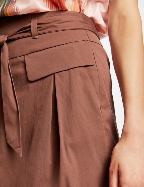Skirt with a paperbag waistband