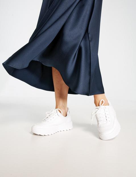 Fijn glanzende rok