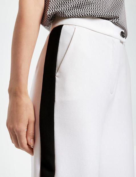 Marlene trousers with tuxedo stripes