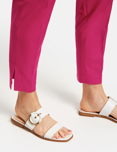 7/8-length stretch cotton trousers