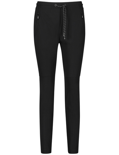 Tracksuit bottoms with decorative topstitching