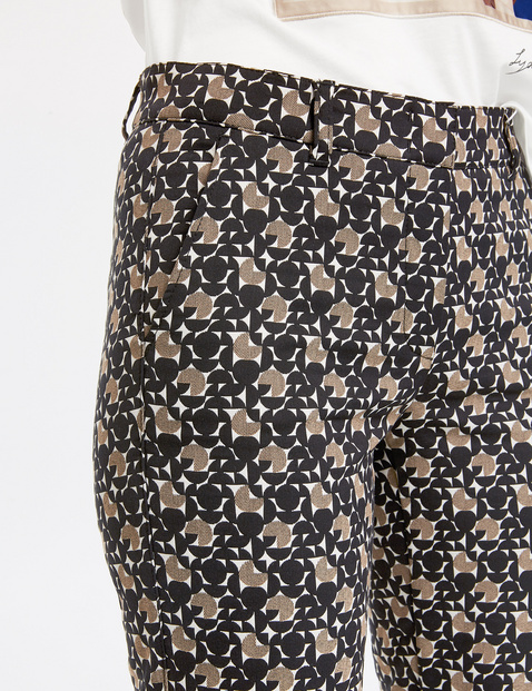 Trousers with a retro pattern