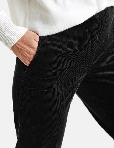 Hose mit Glanzsaum SlimFit