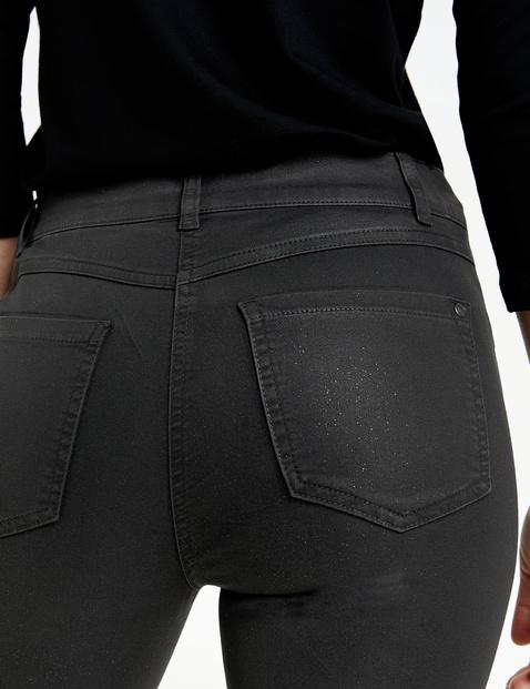 Spodnie z 5 kieszeniami z brokatem
