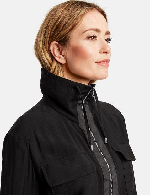 Lange Jacke mit Zip