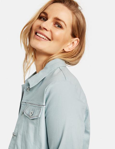 Jeansjacke mit Glitzerdetails