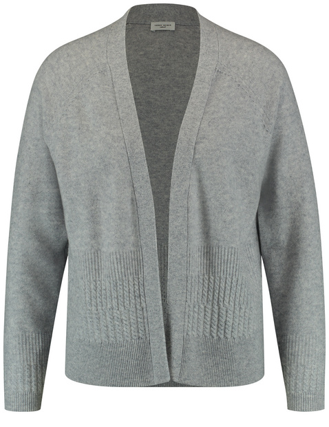 Cardigan in a wool-cashmere blend