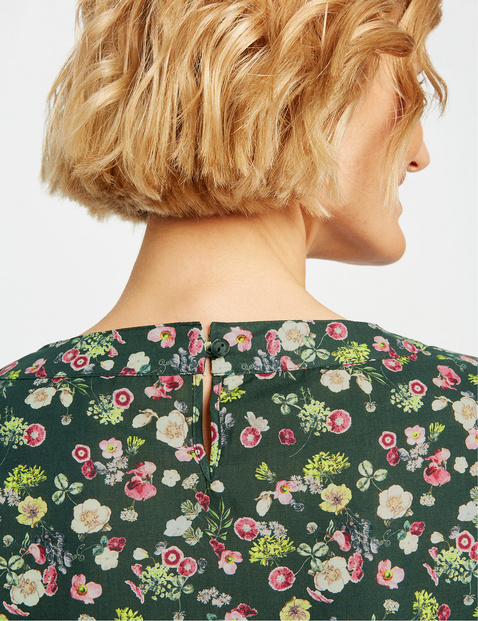 Blouse top with scattered flowers