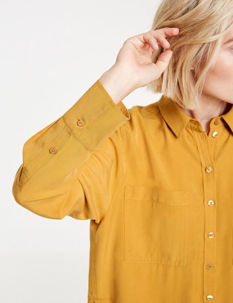 Overhemdblouse van lyocell