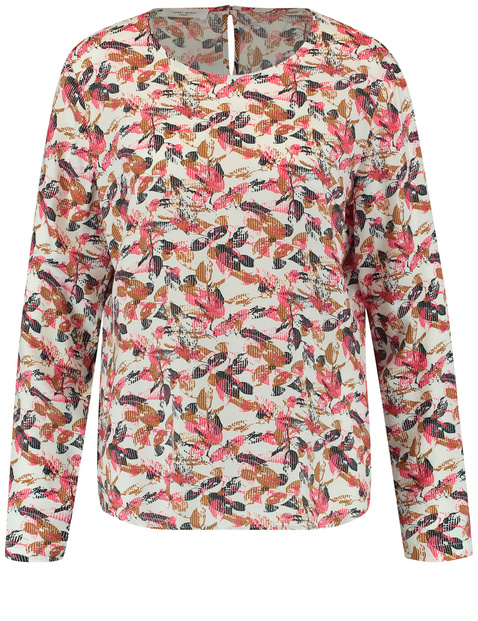 Blouse with a leaf print
