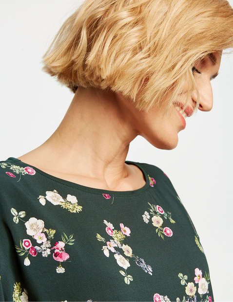 Top with a floral front section