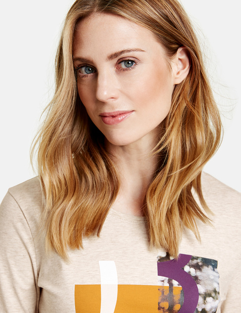 3/4-length sleeve top in organic cotton