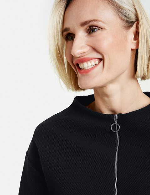 Sweatshirt with a ribbed texture