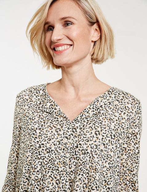 Leopard print blouse top