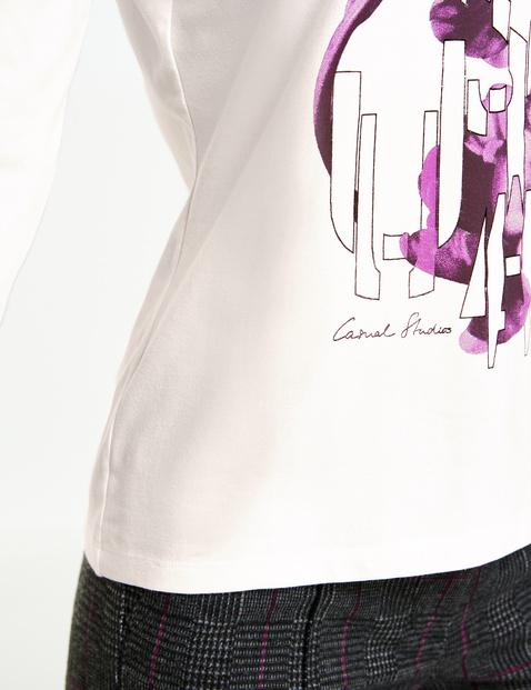 Shirt met 3/4-mouwen en print op het voorpand