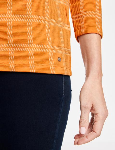 3/4 Arm Shirt mit Karodessin