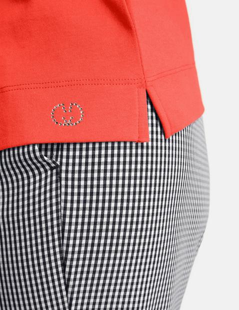 1/2-sleeve top in organic cotton