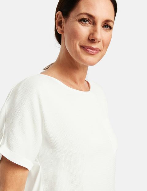 Koszulka z podwijanymi rękawami