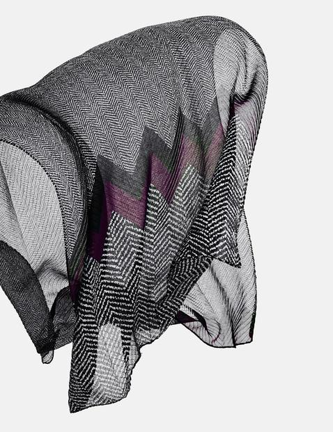 Schal mit Zackenmuster