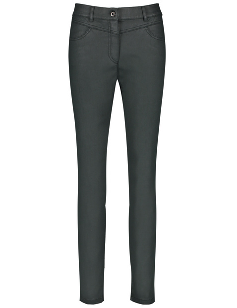 Trousers made of coated cotton