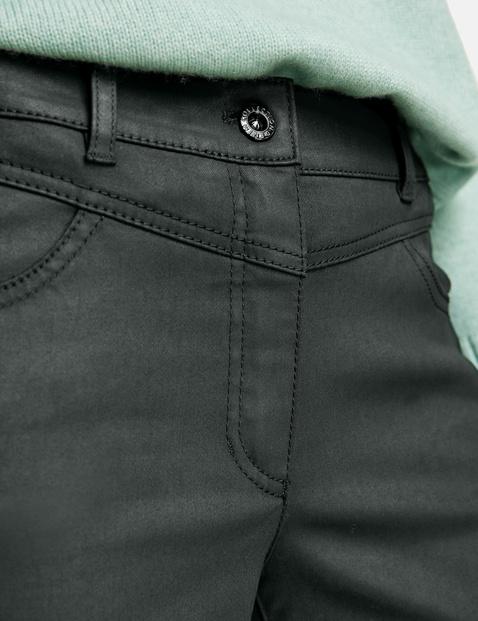Spodnie z powlekanej bawełny
