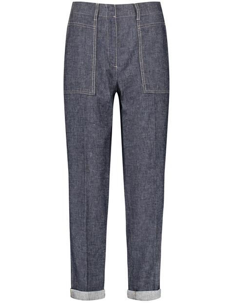 Spodnie o dł. 7/8 Easy Fit
