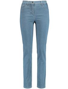 GERRY WEBER Damen Jeans Hose ROMY Stretch Straight mud graubraun 21607