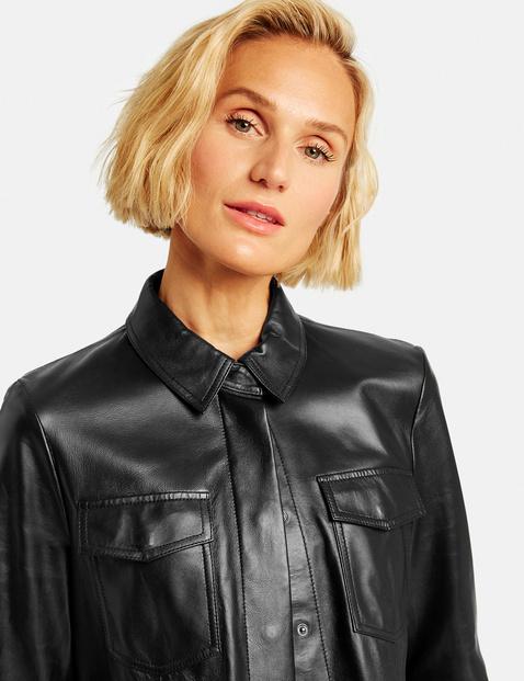 Genuine leather shirt