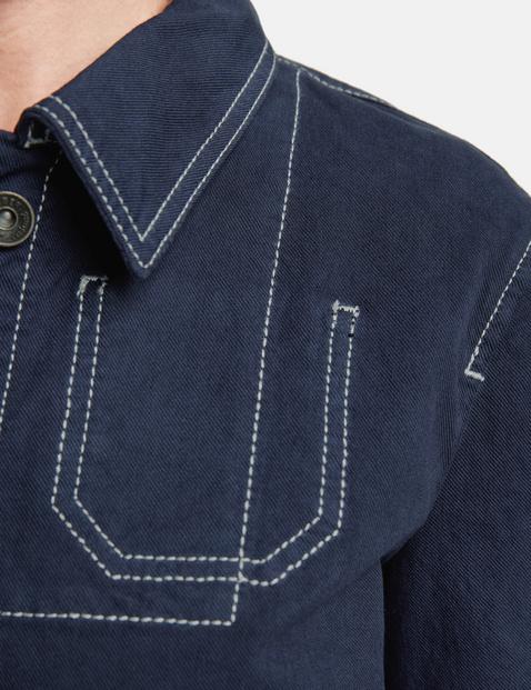 Stretch cotton cardigan