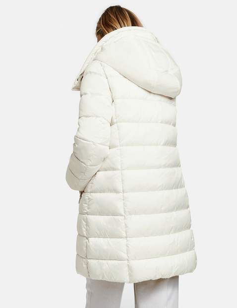 Quilted coat with down filling
