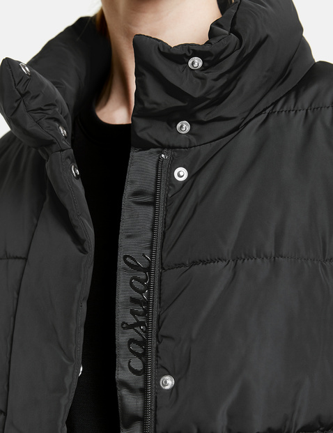 Quilted coat with a stand-up collar