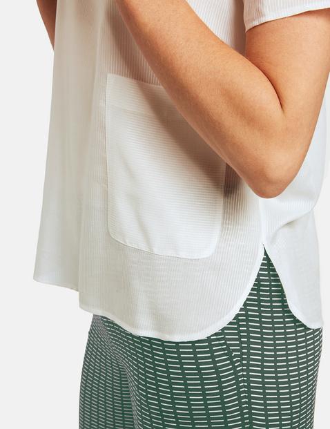 Blouseachtig shirt met wijde mouwen