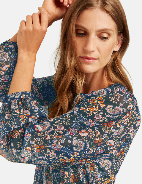 Blouse with a smocked detail