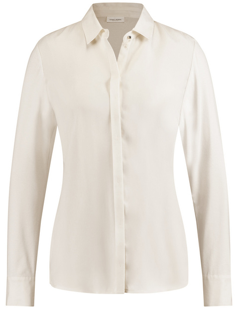 Long sleeve blouse made of cupro