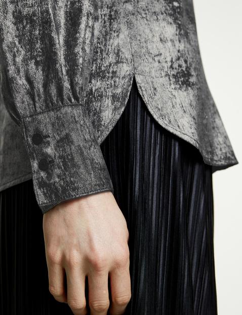 Shimmering long sleeve blouse
