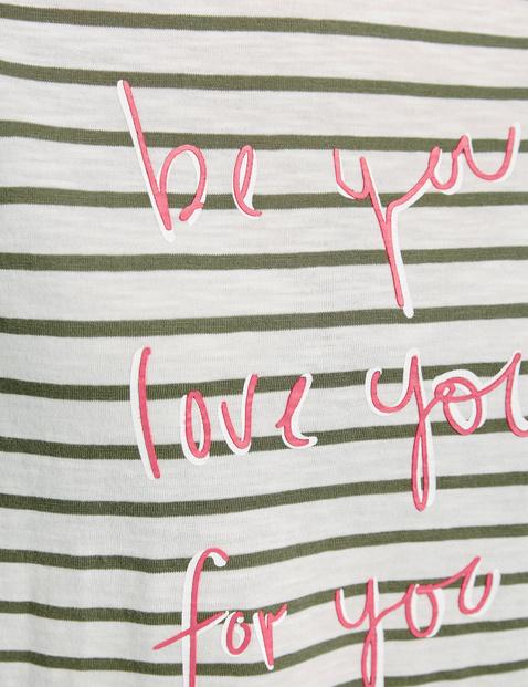 Shirt met 3/4-mouwen en mottotekst