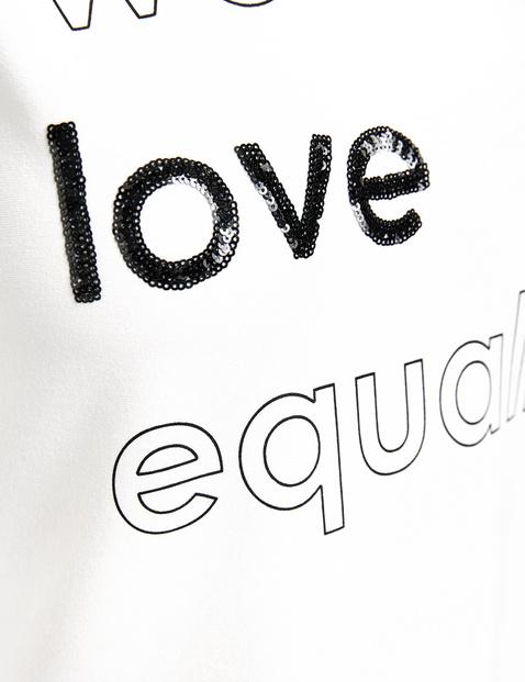 Shirt met 3/4-mouwen en tekst, EcoVero