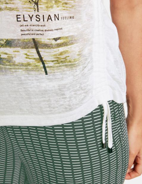 Shirt met korte mouwen en gerimpeld detail