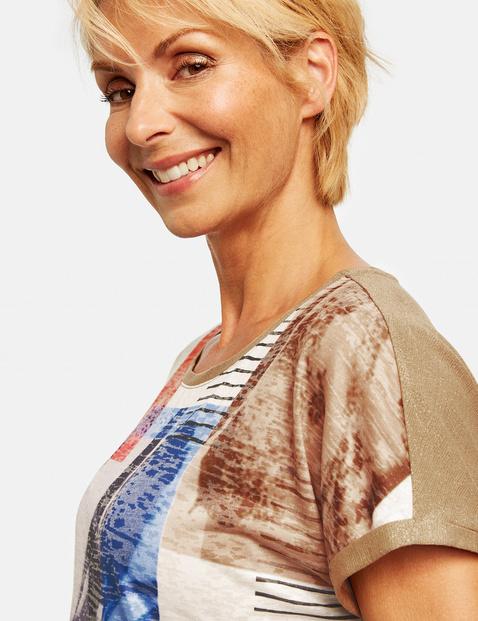 Koszulka w patchworkowym stylu