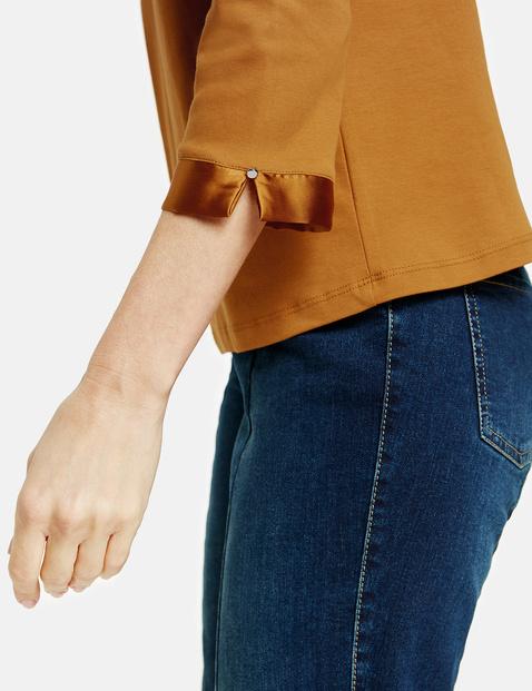 3/4-sleeve top in organic cotton