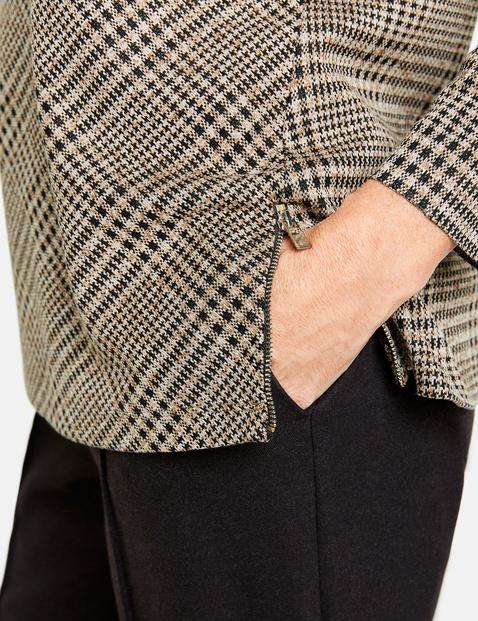 Langarmshirt mit Glencheckmuster