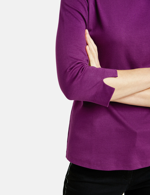 3/4 sleeve top in organic cotton